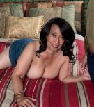 Big-boobed over 60 brunette MILF Rochelle Wondrous letting out immense boobies for nip play