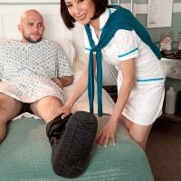 Mature Asian nurse Kim Anh cures patient with nice handjob and blowjob