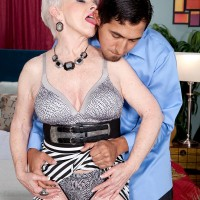 Lusty granny Jewel defies her age in this hot over 60 porn shoot