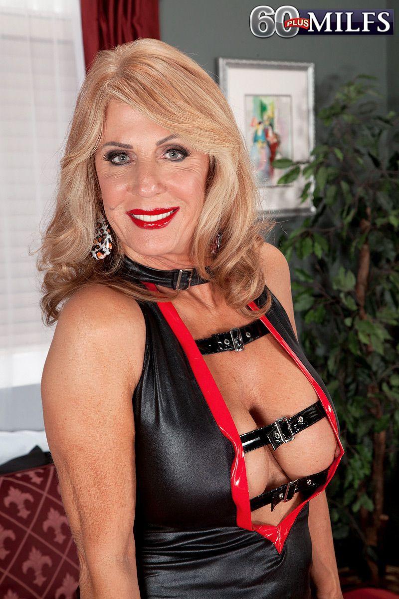 Beautiful blonde over 60 Phoenix Skye making porn debut on 60+ MILFs