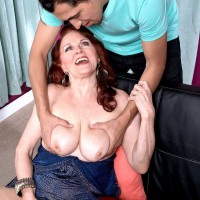 Naughty over 60 granny Katherine Merlot serves up her aged pussy for stud