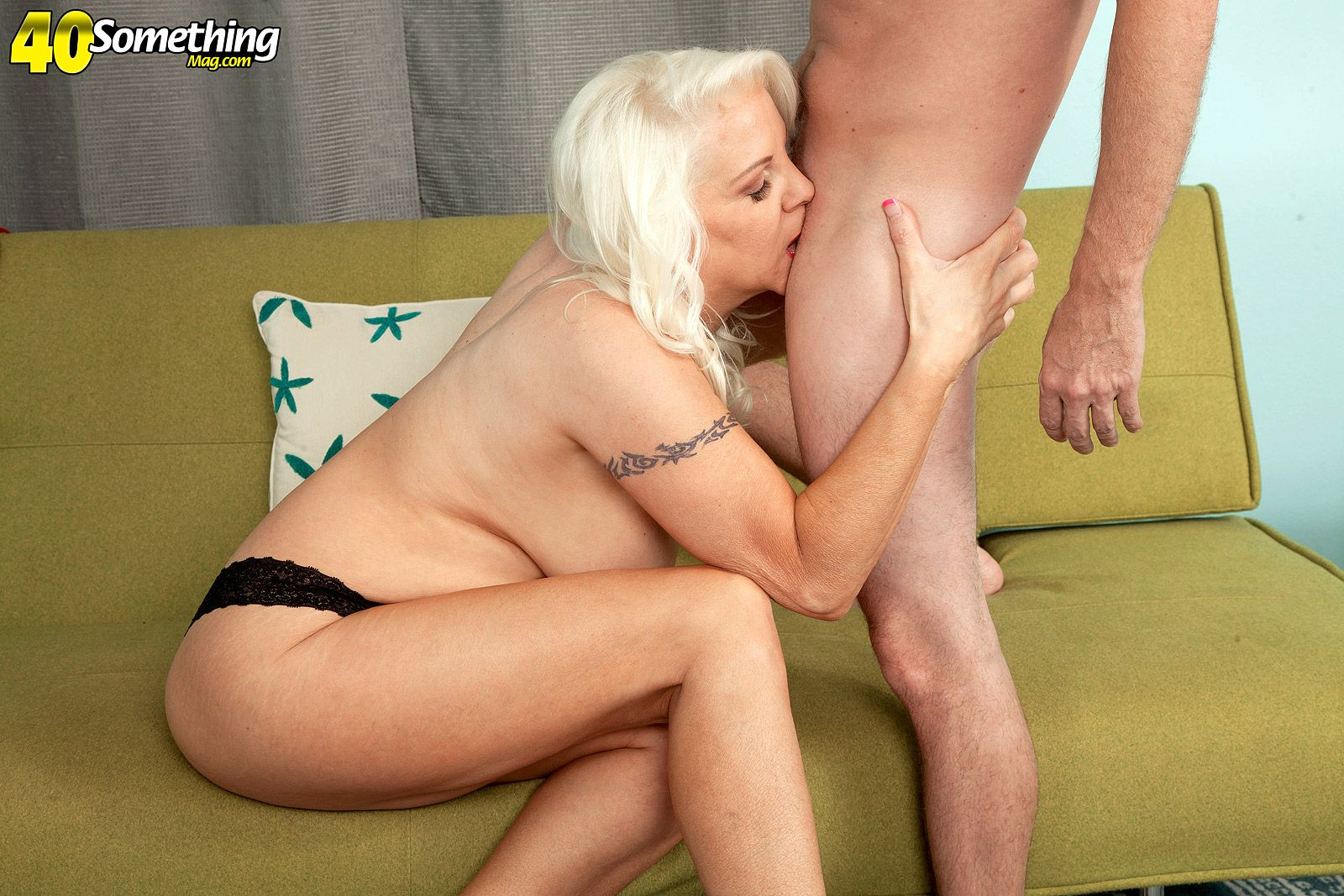 Buxom over 60 pornstar Veronica Vaughn deepthroating and riding cock