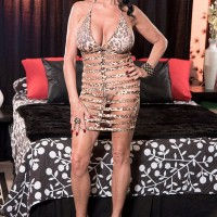 Fully clothed over 60 pornstar Rita Daniels stars in wild MMF threesome