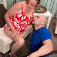 Mature redhead Gabriella LaMay taking doggystyle fucking after giving blowjob