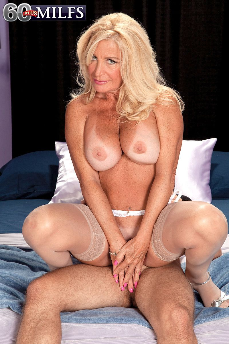 Mature blonde oral