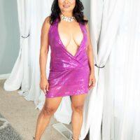 60 Plus Asian MILF Mandy Thai wears no bra under her dress while seducing a dude