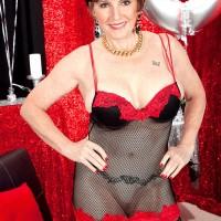 70 MILF Bea Cummins loosing gigantic natural older boobies on her birthday