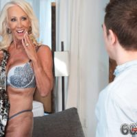 Beguiling over 60 MILF Madison Milstar tempts a younger stud in her boulder-holders and undies