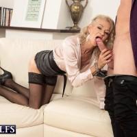 Killer elder woman Beata gives a ball gobbling blow job after seducing a junior dude