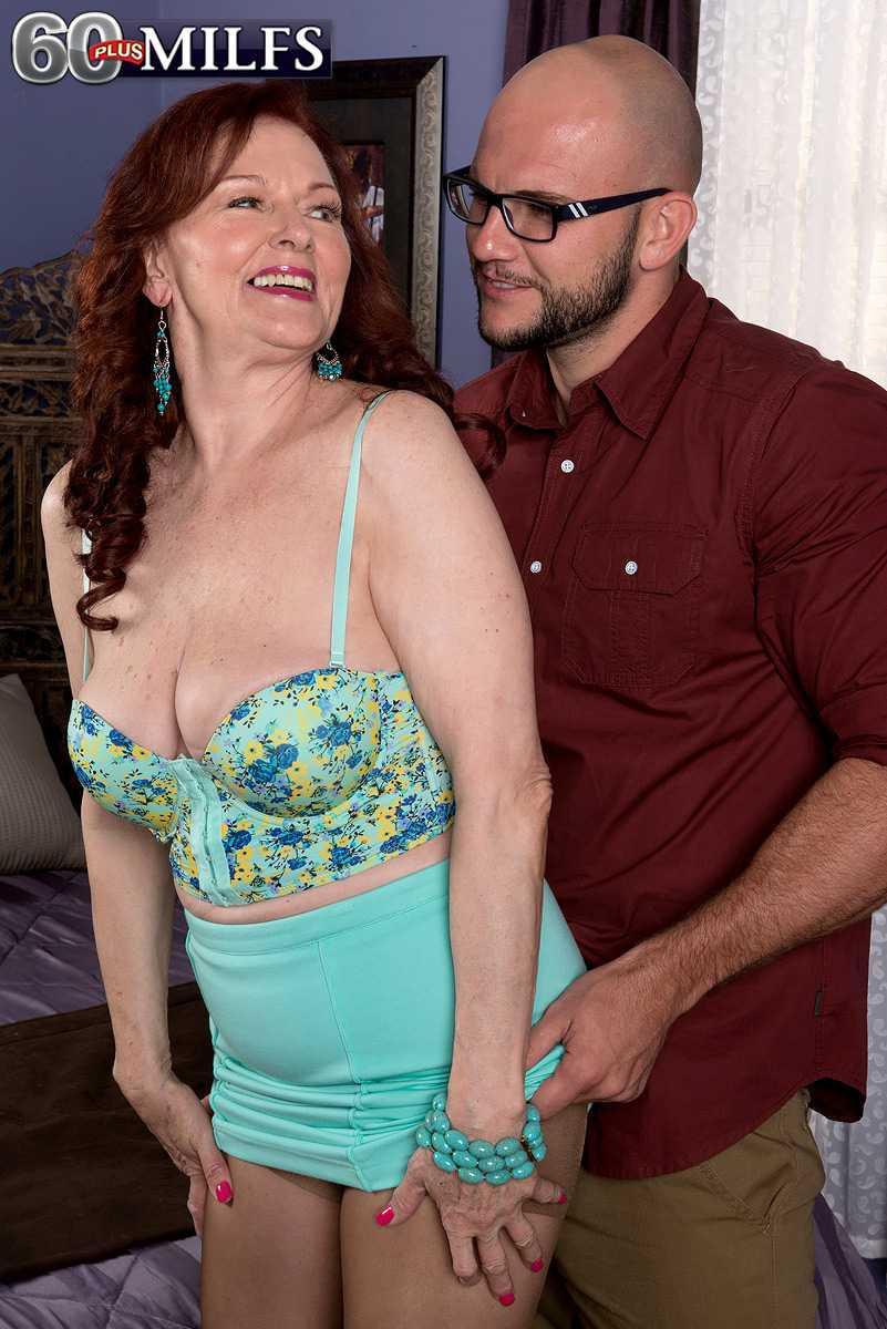 Mature Babe Katherine Merlot Takes A Younger Man's Phallus