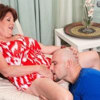 Older Euro broad Gabriella LaMay releasing immense funbags before giving oral pleasure