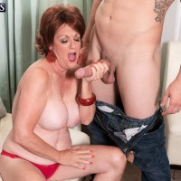 Older Euro broad Gabriella LaMay releasing immense funbags before giving oral pleasure