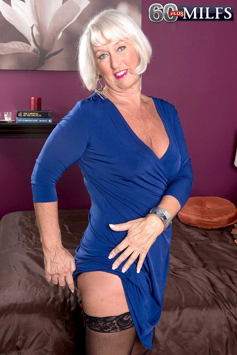 sexy 60 plus milf jeannie lou gets ass fucked | over 60 porn