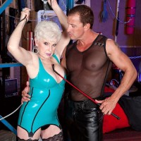 Short haired grandma Jewel lovin' xxx DOMINATION & CONFORMITY sex in spandex dress and hosiery